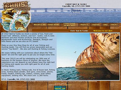 Chris Bait & Tackle Web Design