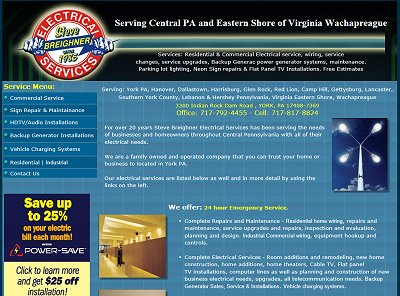 Steve Breighner Electrical Services, York Pa